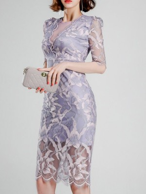 Bodycon Date Elegant Floral Midi Dress
